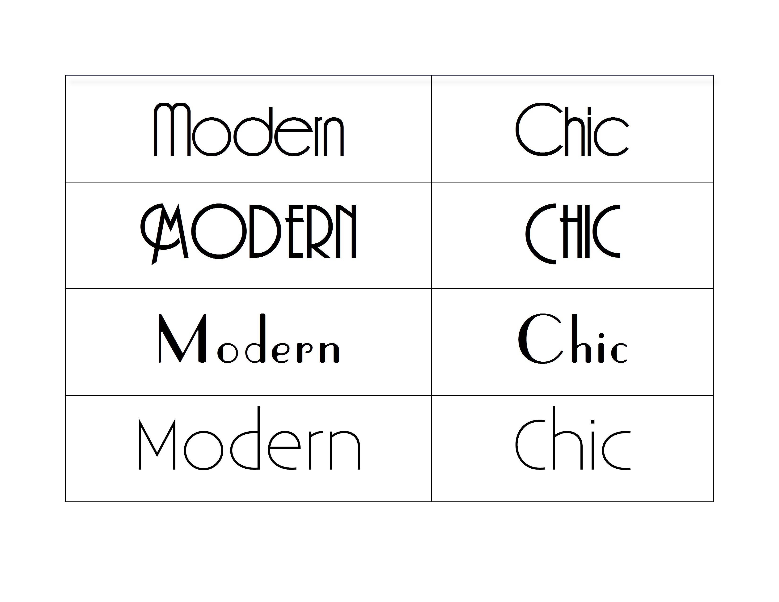 midcentury modern fonts