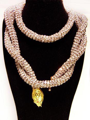 Modern Goddess / karen cox.  Vintage Kenneth Jay Lane Snake Rhinestone Belt/Necklace | Collectors Weekly