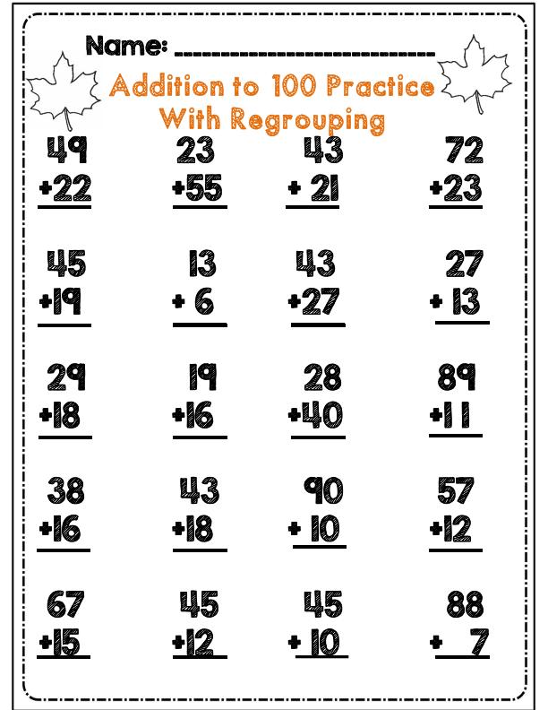 Second Grade Fall Math & ELA Activity Set Core