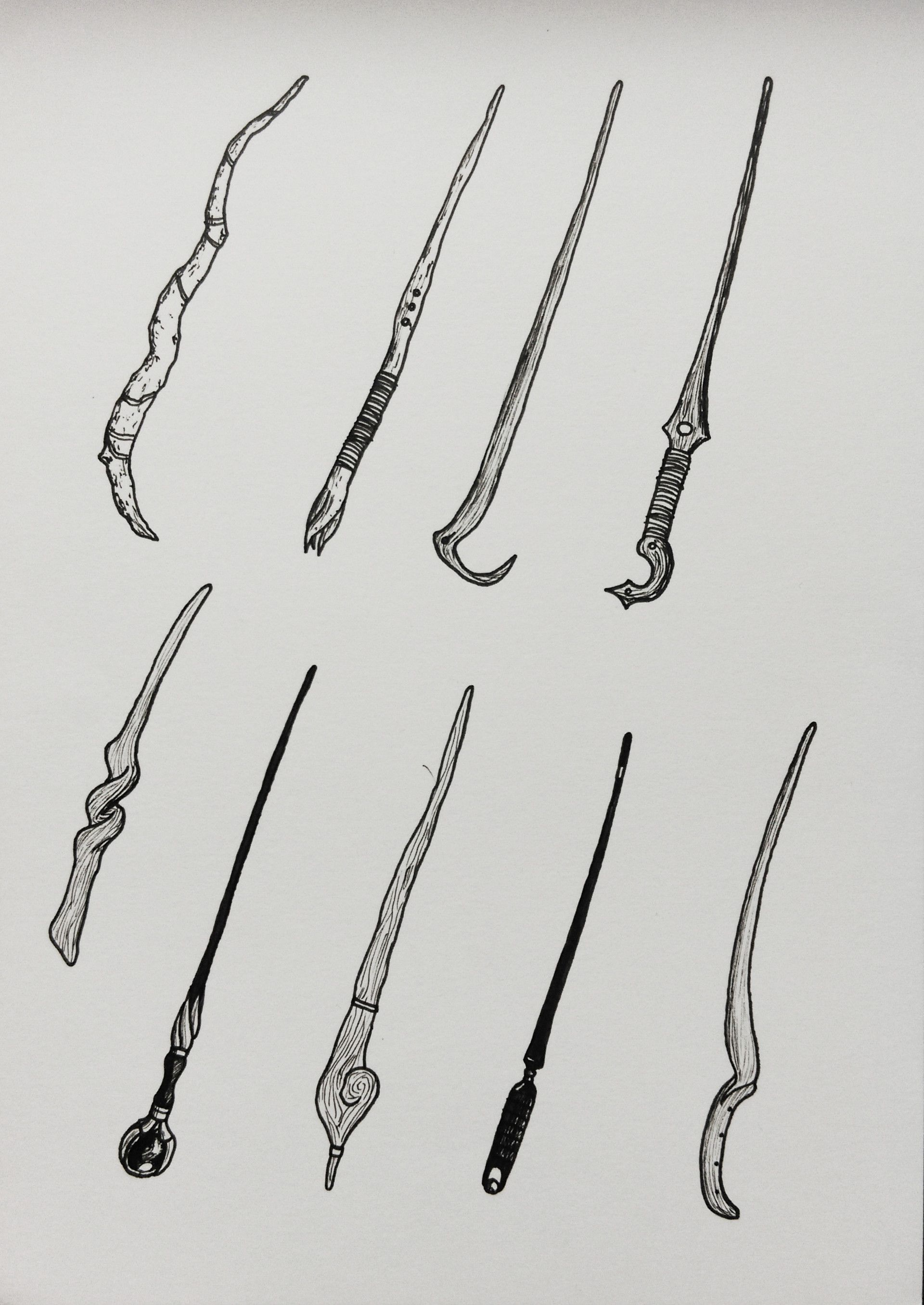 How To Draw A Wand : Concepts, Ideas, Harry, Potter, Wand,, Wands,