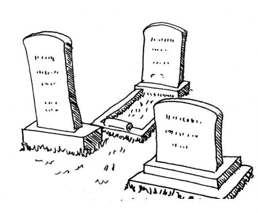 Dibujo De Tumbas En El Cementerio Para Pintar Y Colorear