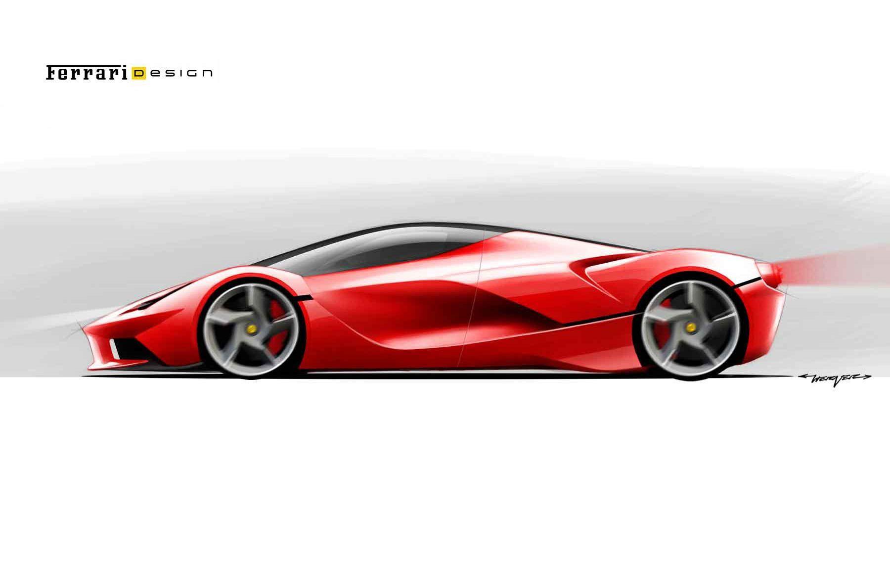 Laferrari Sketch Concept Car Design Concept Car Sketch Car