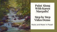 Paint Along Видео и PDF Демонстрационный ролик урока рисования пастелью ГОРЫ | Etsy