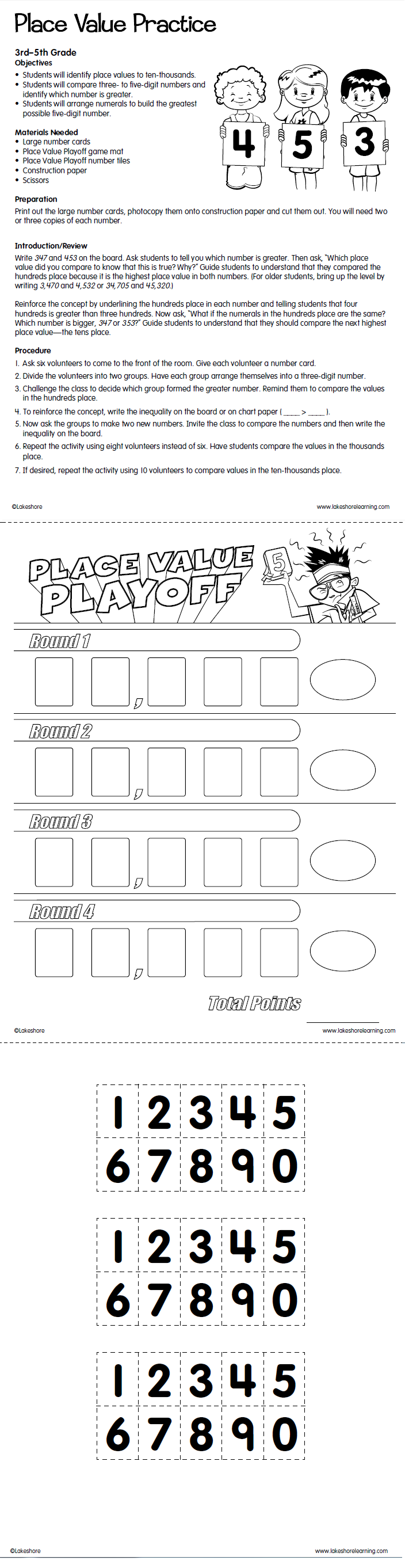 worksheet Rounding Practice get ready for 4th grade with lakeshores free place value practice printable areyouready
