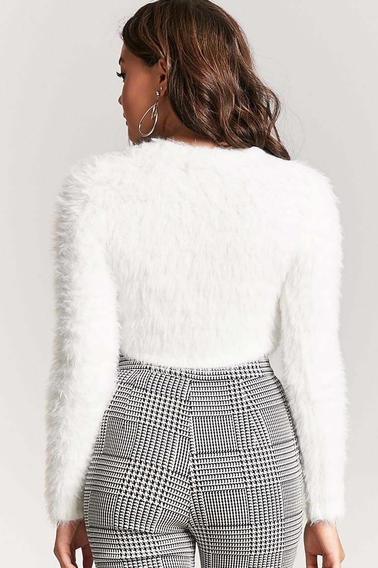 Product Name:Fuzzy Cropped High-Low Sweater, Category:sweater ...