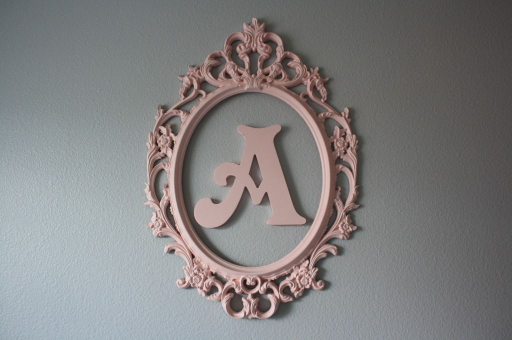 Vintage Letters Wall Decor : Vintage painted letter wall art inspiration diy