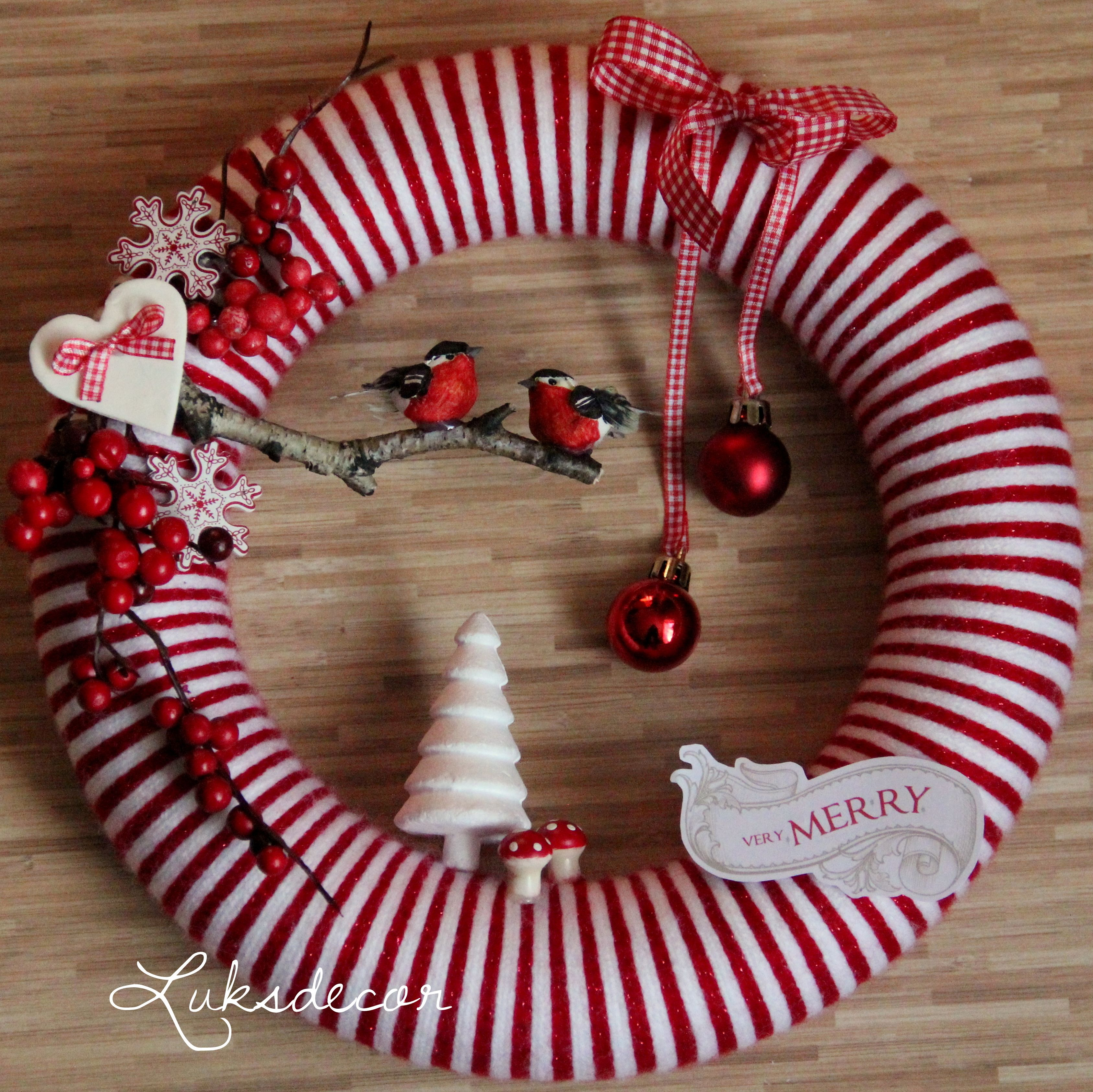 Security Check Required Christmas Yarn Wreaths