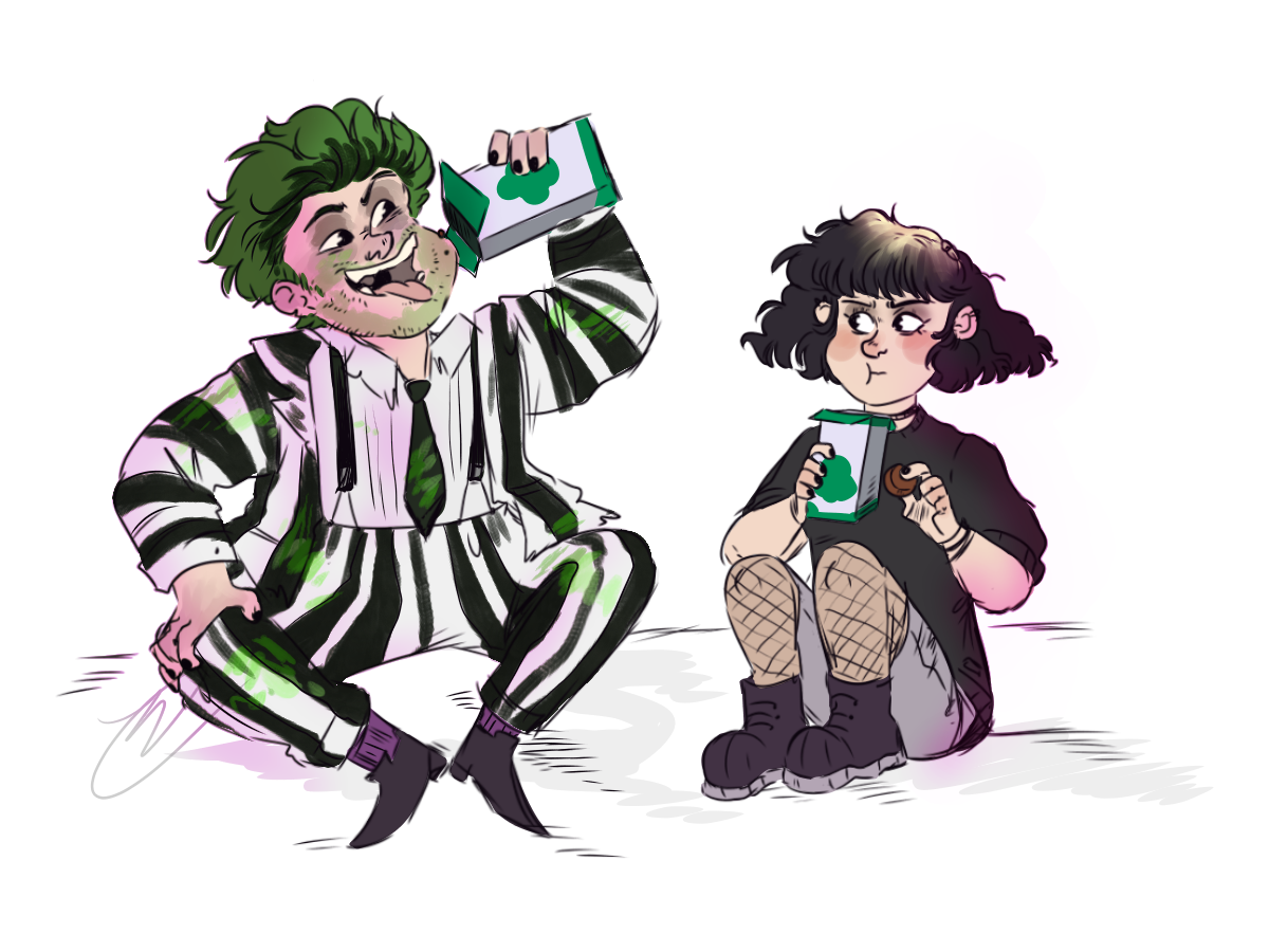 Reagansfunkyart Eating The Cookies From The Girl Scout You And Your Bffff Forever Scared Shitless Beetlejuice Movie Beetlejuice Girl Beetlejuice