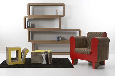 meubles en carton Doin\u0027 the Cardboard Pinterest Cardboard