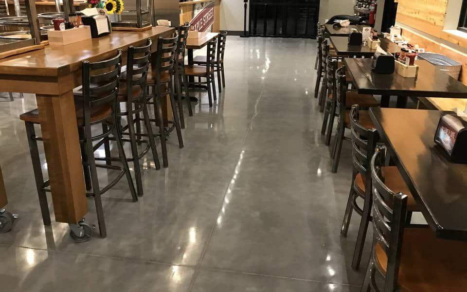 Polished Concrete Commercial Restaurant Advance Industrial Coatings Polished Concrete Concrete Restaurant