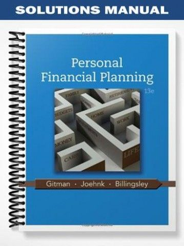 solutions manual for personal financial planning 13th edition by rh pinterest com Nursing Diagnosis 13th Edition Cultural Anthropology 13th Edition