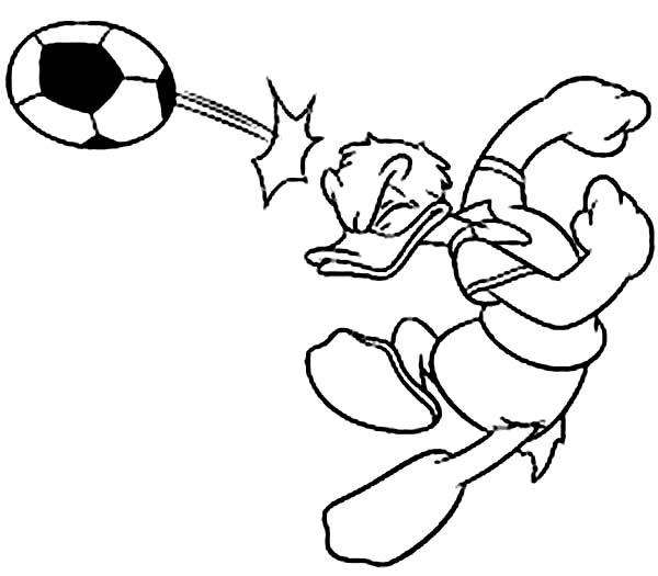 Donald Duck Playing Foot Ball Coloring Pages Netart Coloring Pages Disney Coloring Pages Bible Coloring Pages