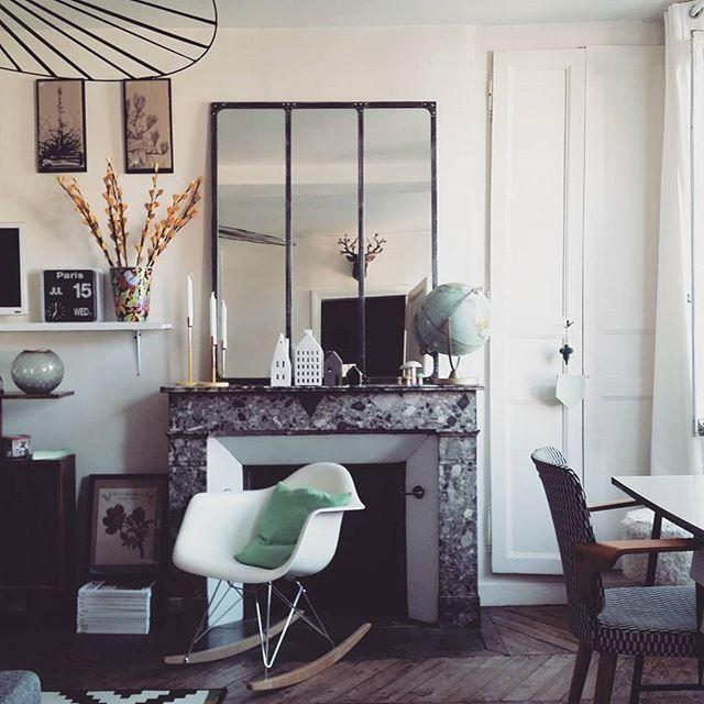 Un int rieur aux inspirations scandinaves et industrielles la d coration des internautes - Deco cheminee interieur ...