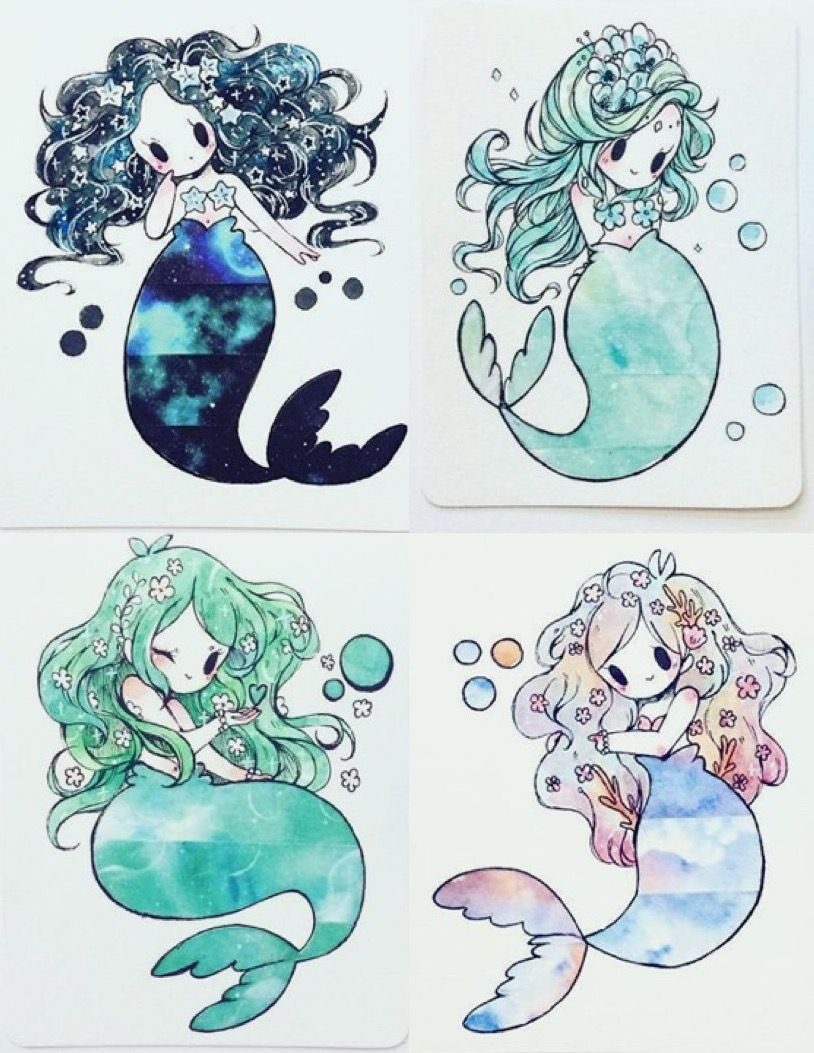 Birduyen Mermaids Mermaid Drawings Cute Drawings Mermaid Art