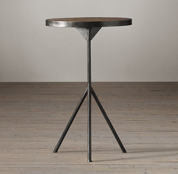 Elm U0026 Iron Tripod Side Table