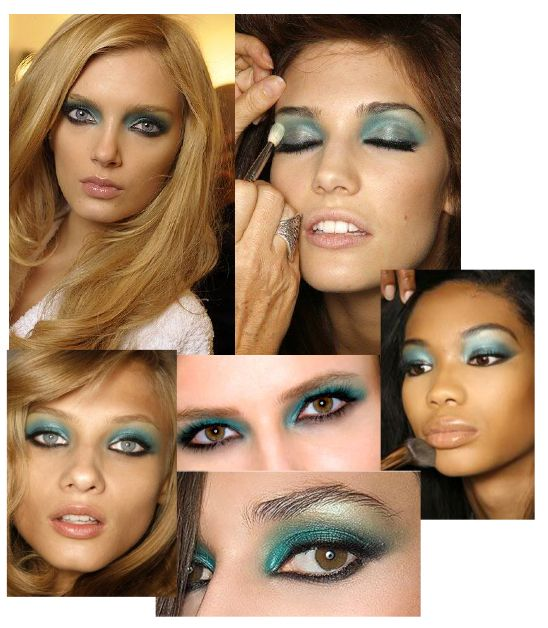 Green Blue Green Blue Makeup Runway Makeup Beauty Routines