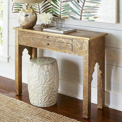Marrakesh Gold Console Table Console Table Living Room Accent