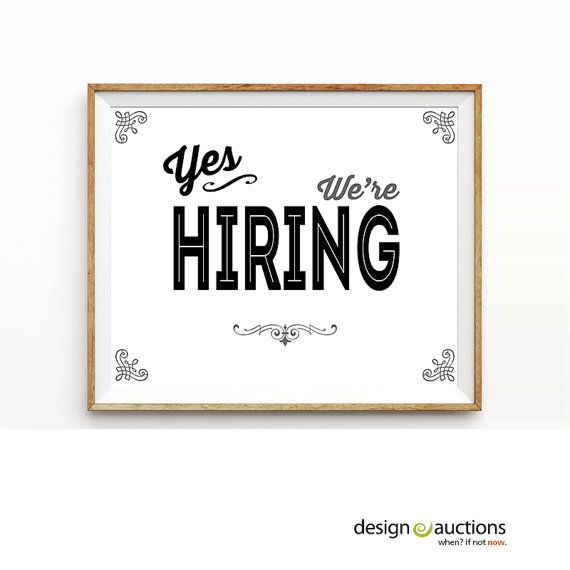 printable now hiring signs