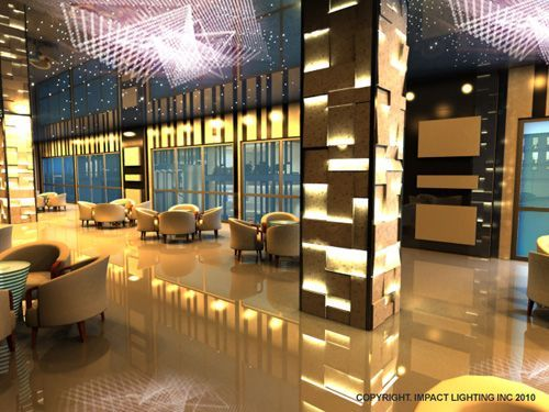 images of interior column lighting | Impact Lighting Inc. will be  fabricating and installing the