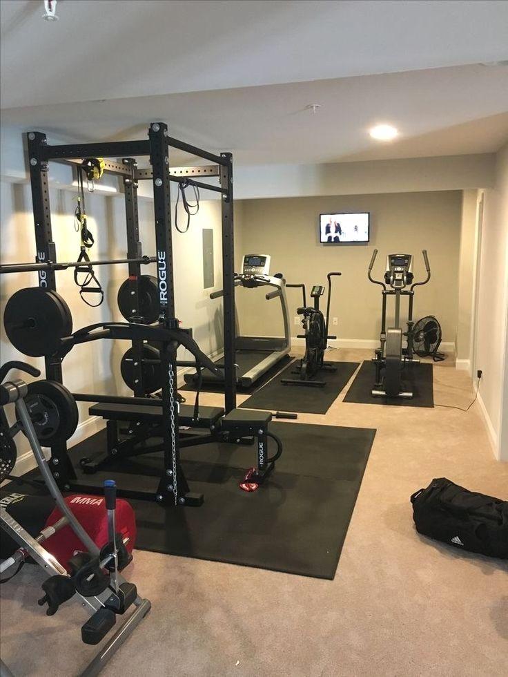 Amazing Basement Gym Room At Home, Basement Workout Room Design Ideas