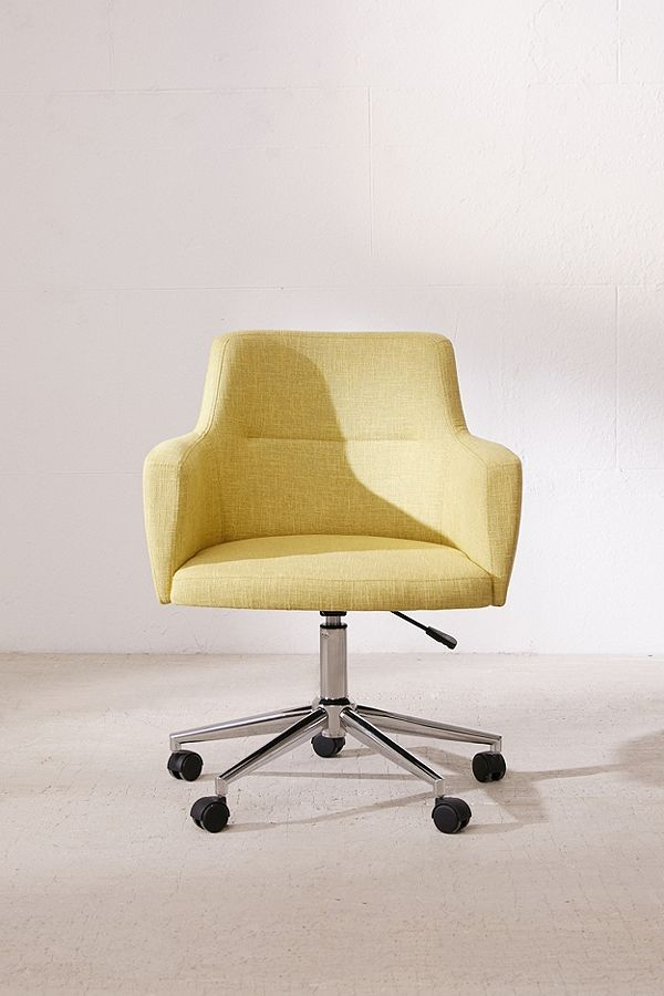 Desk Chair In Bright Yellow In 2019 Desk Chair Comfy