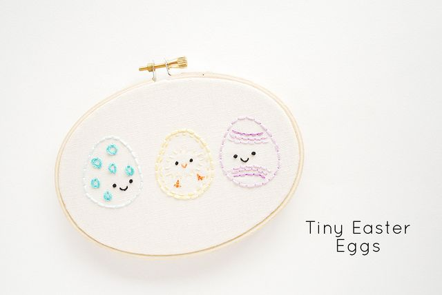 PATTERN: TINY EASTER EGGS (AND A POLKA DOT STITCH!)