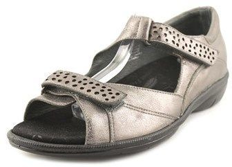 7817460d3654 Barefoot Freedom by Drew Barefoot Freedom By Drew Bay Women W Open Toe  Leather Silver Sandals