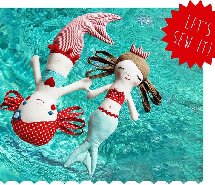 Selber nähen: Meerjungfrau Calypso (eBook)   Meerjungfrauen ...