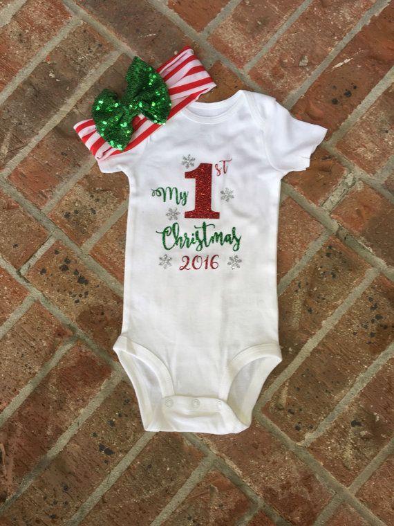 Babykleding Eerste Kerst.Mijn Eerste Kerst Baby Eerste Kerst Outfit Door Alohaproductionsco