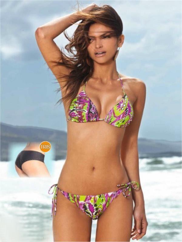 Bikini 3 pezzi della bellissima beachwear un costume da bagno della linea silhouette - Costumi da bagno del 1900 ...