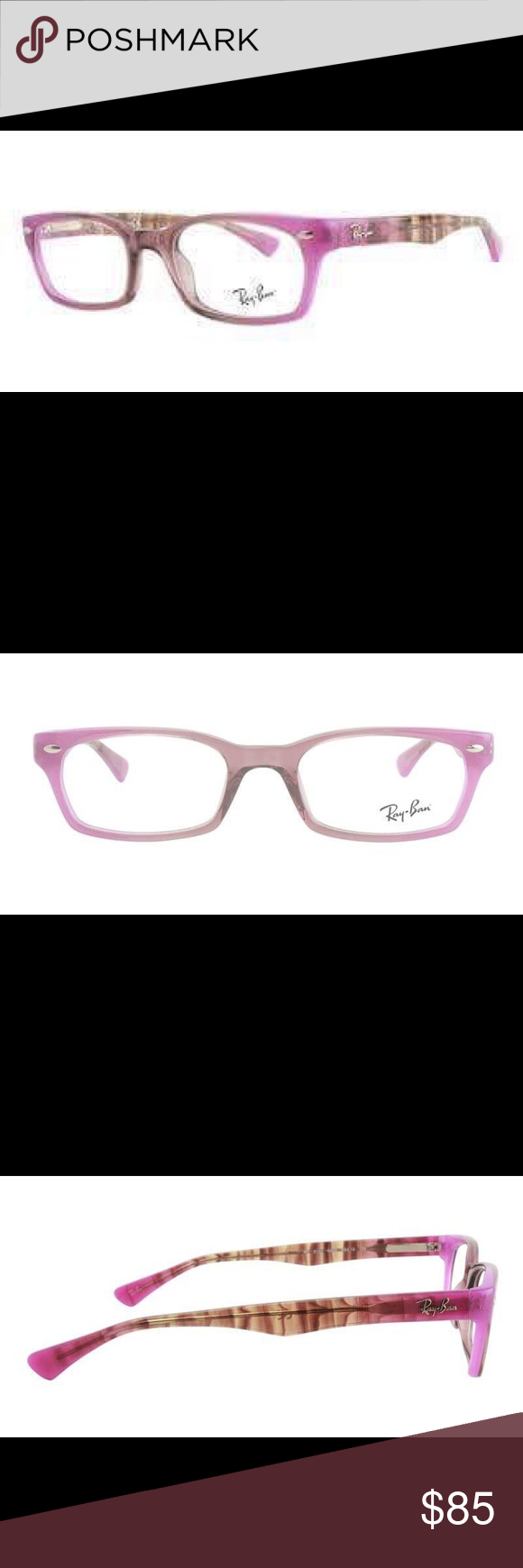 RAY BAN WOMEN'S RB5150 FRAME COLOR PURPLE LENS COLOR