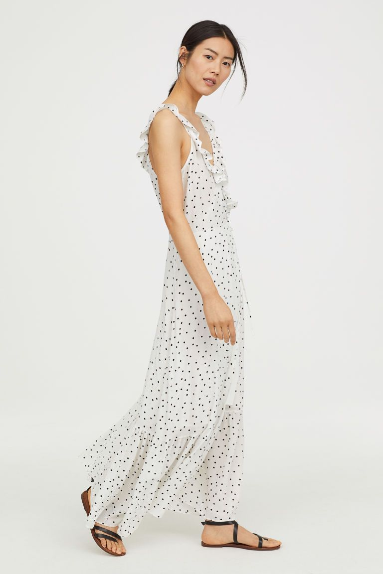 Long flounced dress the wardrobe pinterest summer clothes