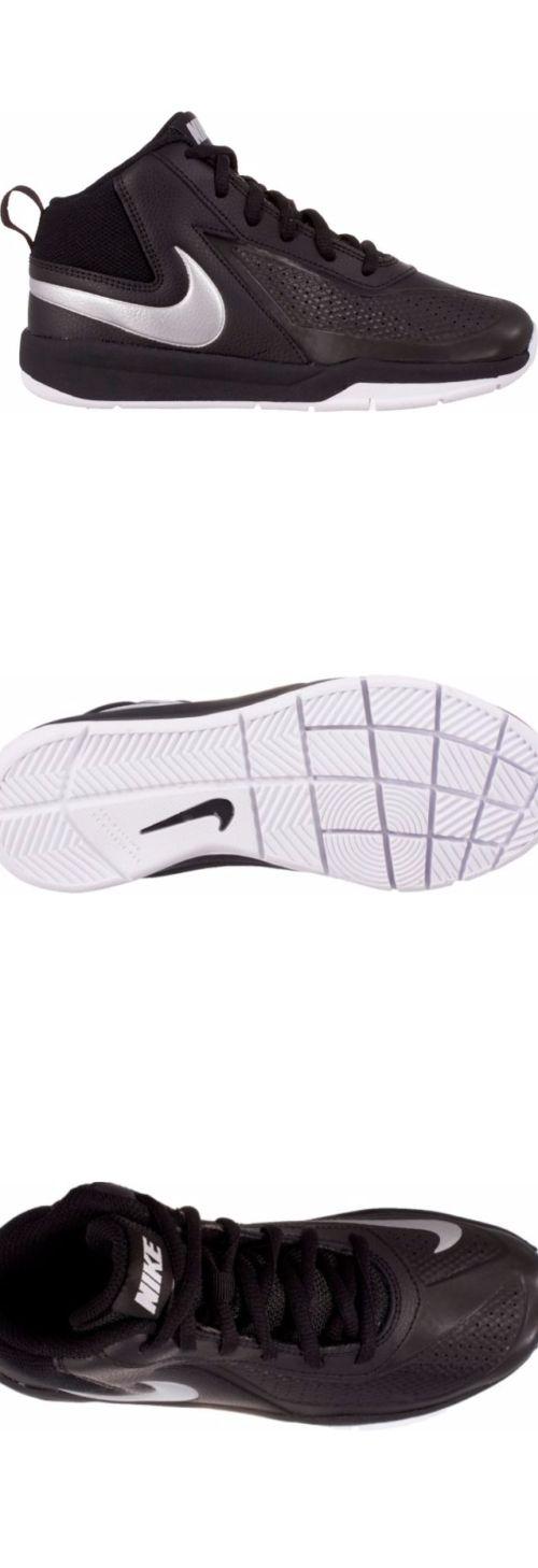 40f687e3ff9 New Youth Nike Team Hustle D7 Athletic Shoes 747998-001 Size 4.5Y Black Silv  W65