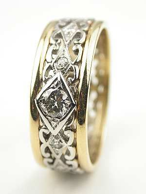Two Toned Vintage Wedding Ring Rg 3333 Vintage Wedding Rings