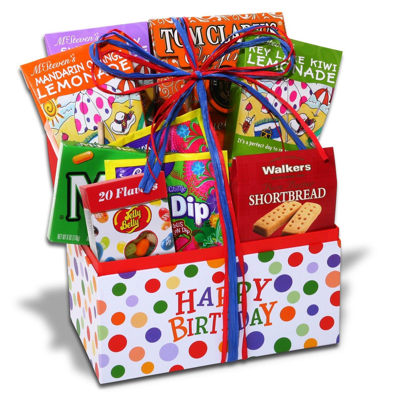 Happy Birthday Snack Basket Movie night gift basket