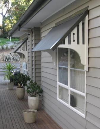 Window awnings - for the sun side of the house…. Description from ...