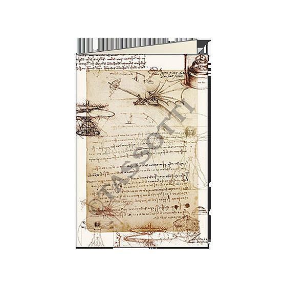"Biglietti d'auguri Tassotti ""Leonardo disegni"" - Greeting cards Tassotti ""Leonardo disegni"" - Tarjetas de felicitaciòn Tassotti ""Occhiali"""