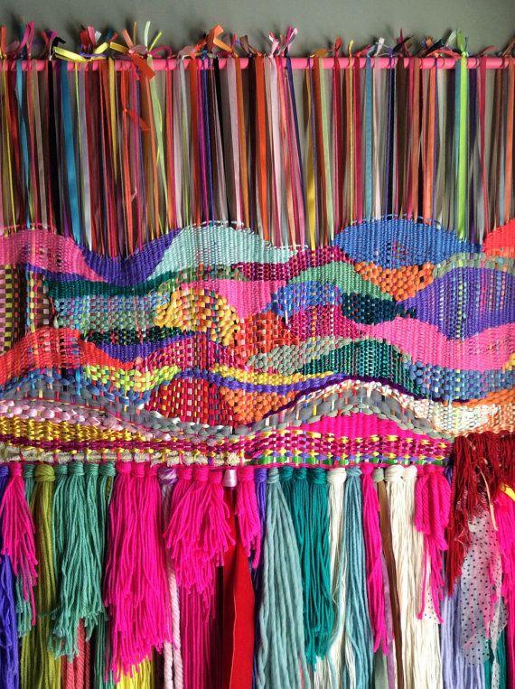 Organic Landscape Telares Weaving Wall Hanging Woven