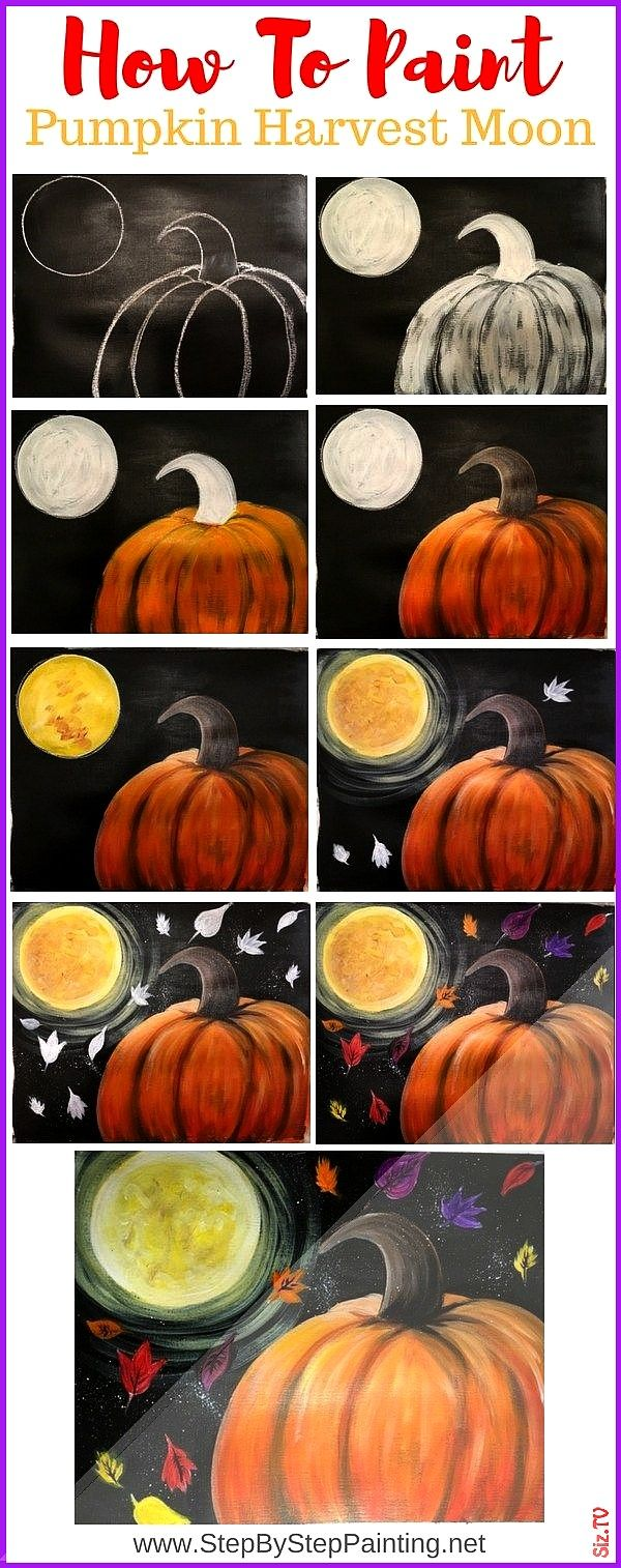 To Paint A Pumpkin Harvest Moon Step By Step Painting How To Paint A Pumpkin Harvest Moon Step By Step Painting Stacy Torsch ladyj2121 Ideas for Jack Crafts how nbsp hell...