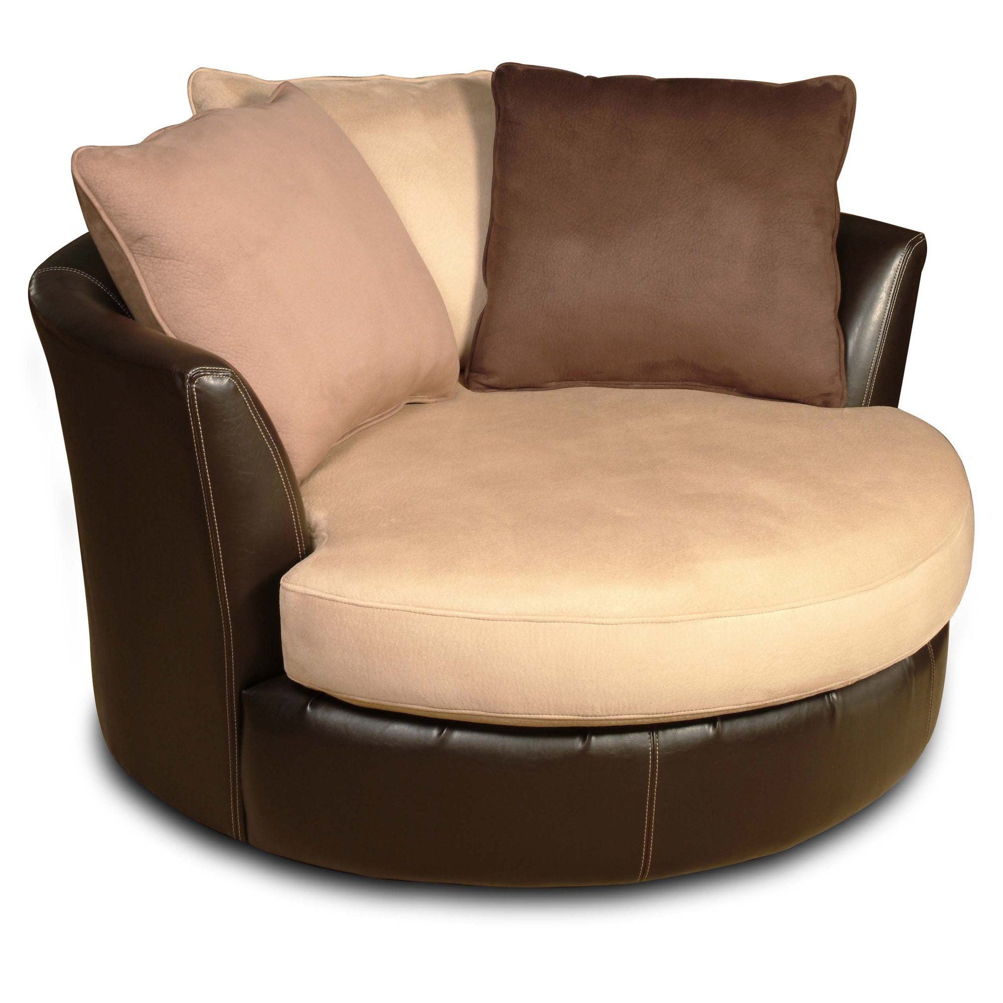 Shaker Swivel Barrel Chair | Swivel chair, Round sofa chair