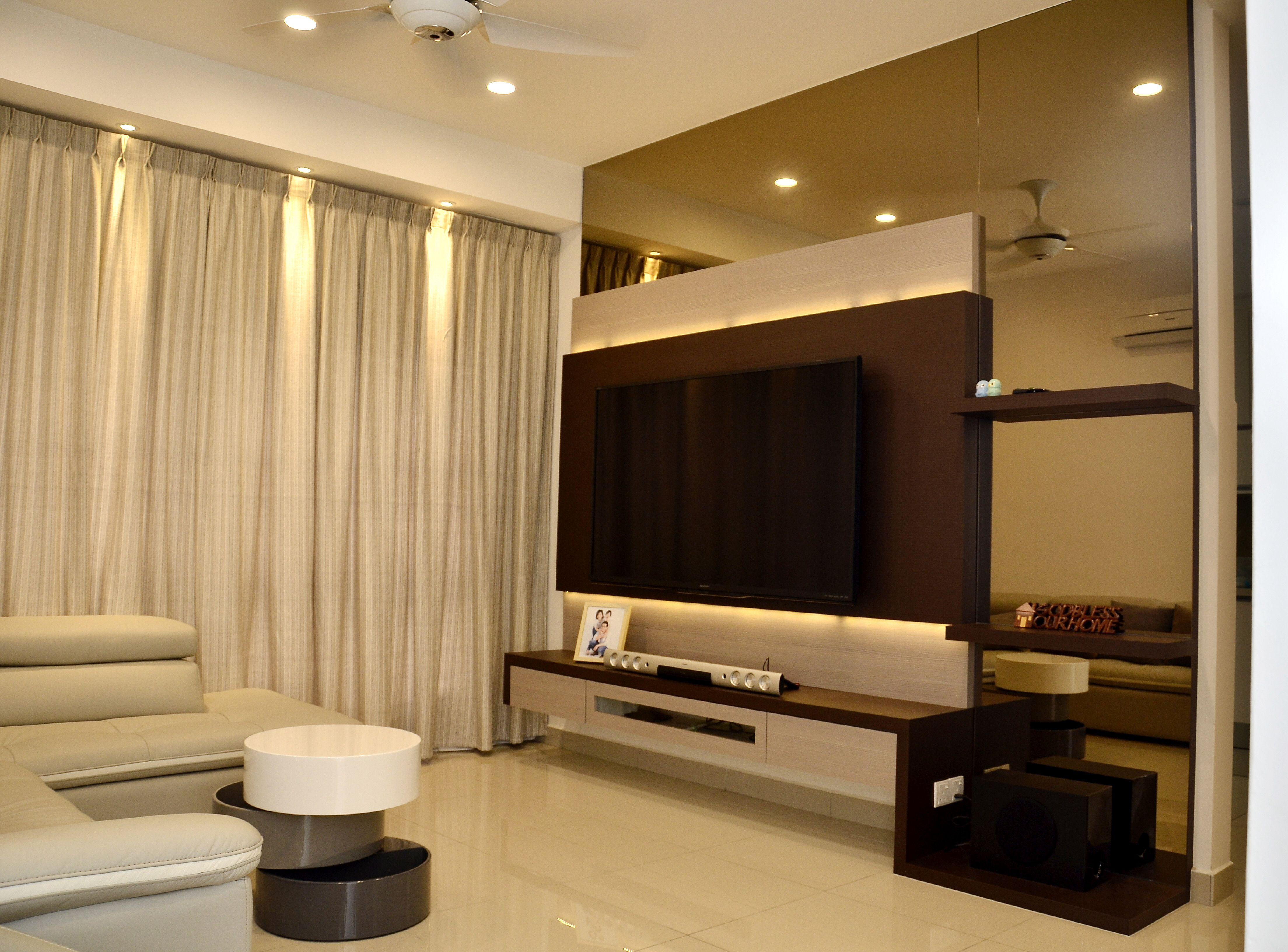 Tv #console #cabinet #white #laminate #wood #livingroom #design Custom Living Room Tv Console Design Decorating Design