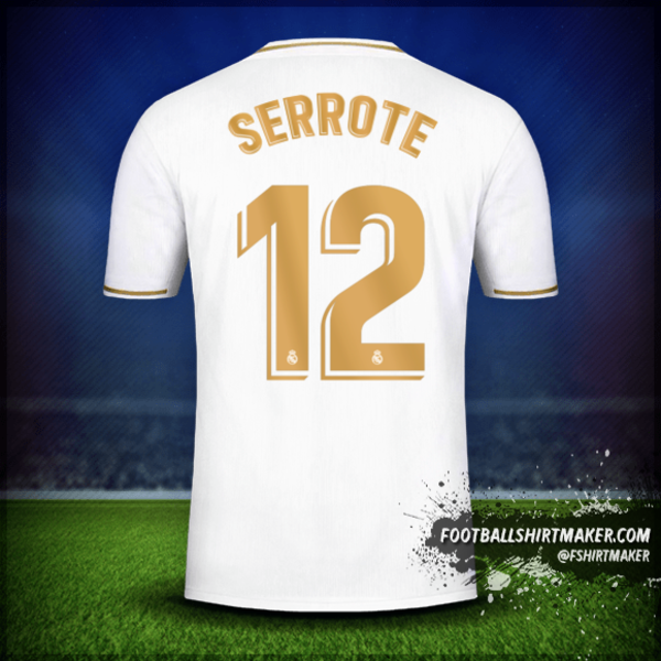 Noticias roble Llevando  Real Madrid CF 2019/20 shirt number 12 serrote in 2020 | Real madrid,  Custom football shirts, Custom shirts