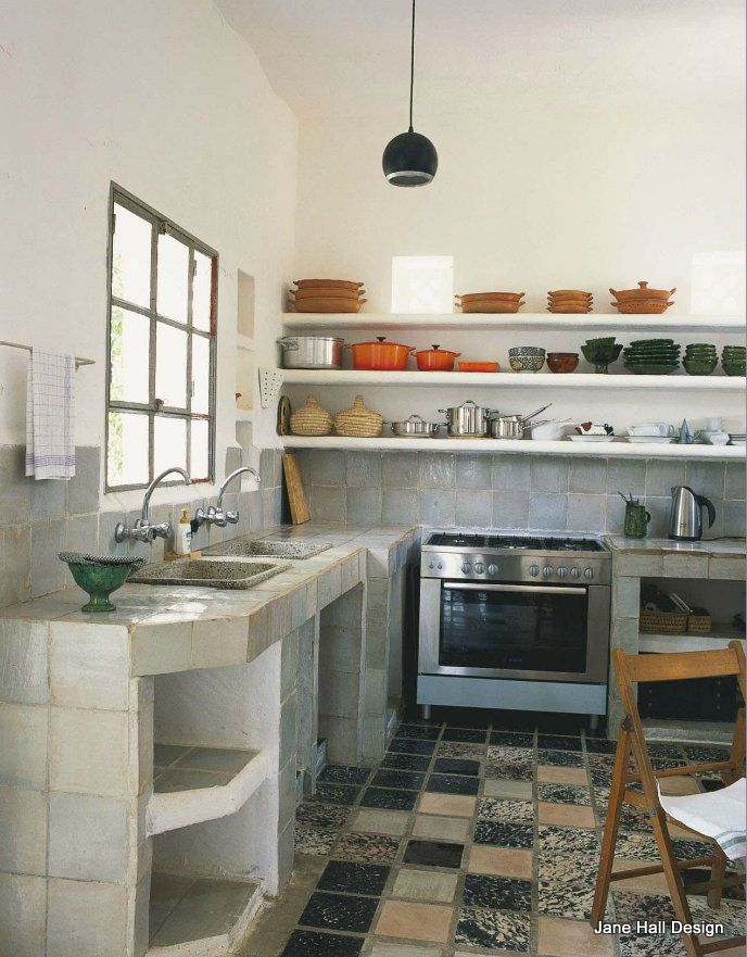 Rustic Style kitchen featured in World Of Interiors