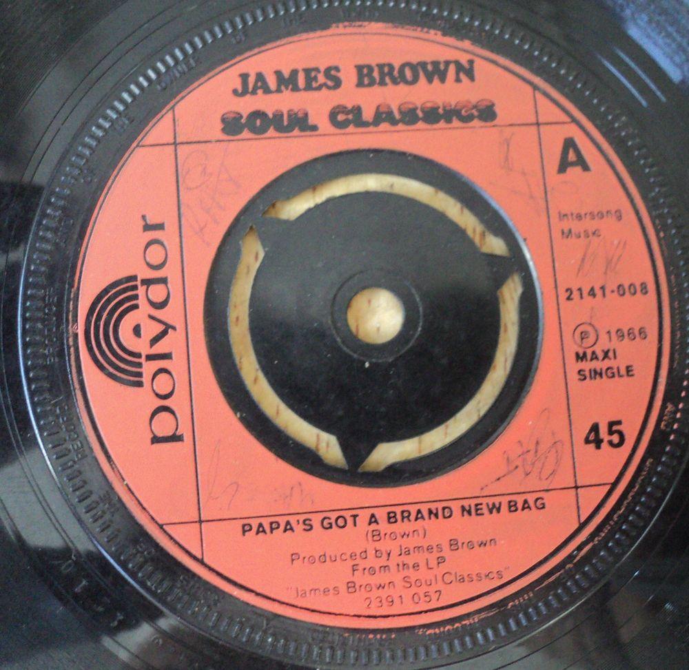 James Brown Papa S Got A Brand New Bag Vintage 7 Soul Polydor Vinyl 45 Ladywe New Bag James Brown Vinyl