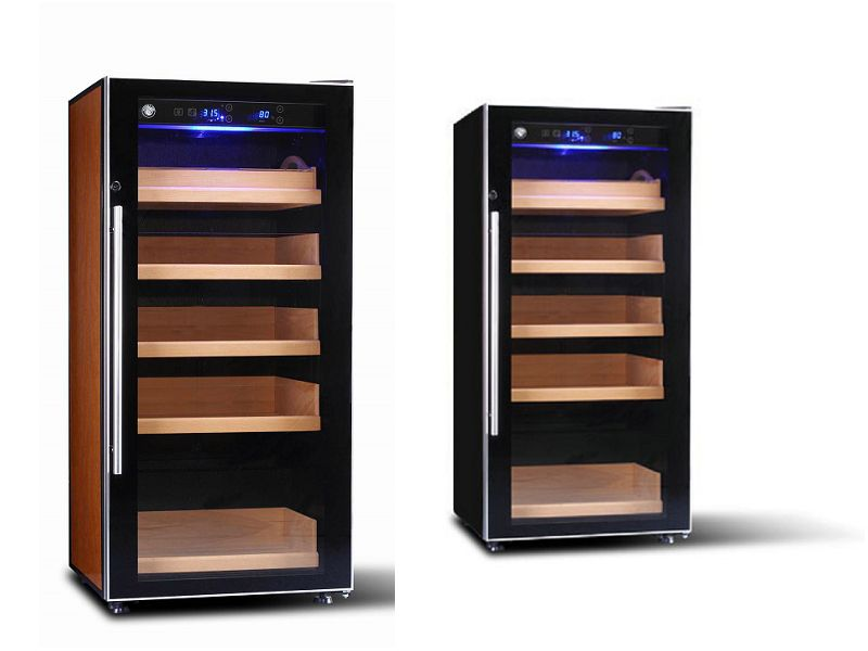 Electronic Cigar Humidor Shop Digital Control Humidor Cabinet Modern  Stainless Steel Shape (GME-002