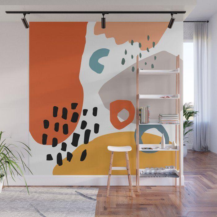 Abstract Shapes Wall Mural by Aledan - 8' X 8'