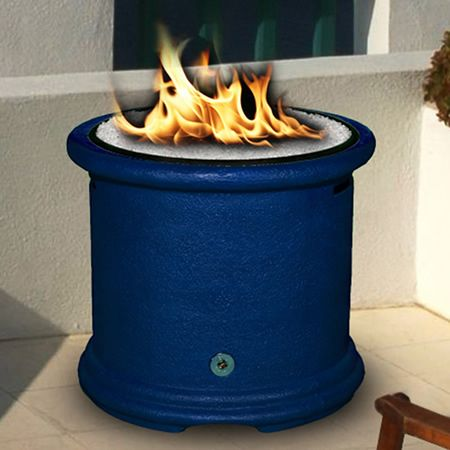Island Deep Blue Chat Gas Fire Pit Woodlanddirect Com Outdoor Fireplaces Fire Pits Gas California Outdoor Concep Gas Firepit Fire Pit California Outdoor
