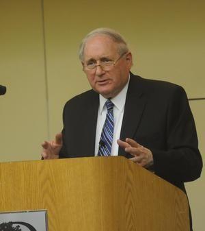 Sen. Carl Levin calls for cuts, taxes at Holland event 3/13/12