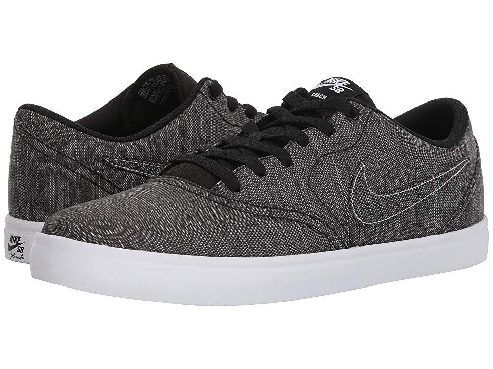 c371d648c404 Nike SB Check Solar Canvas Premium (Black Black White) Men s Skate Shoes
