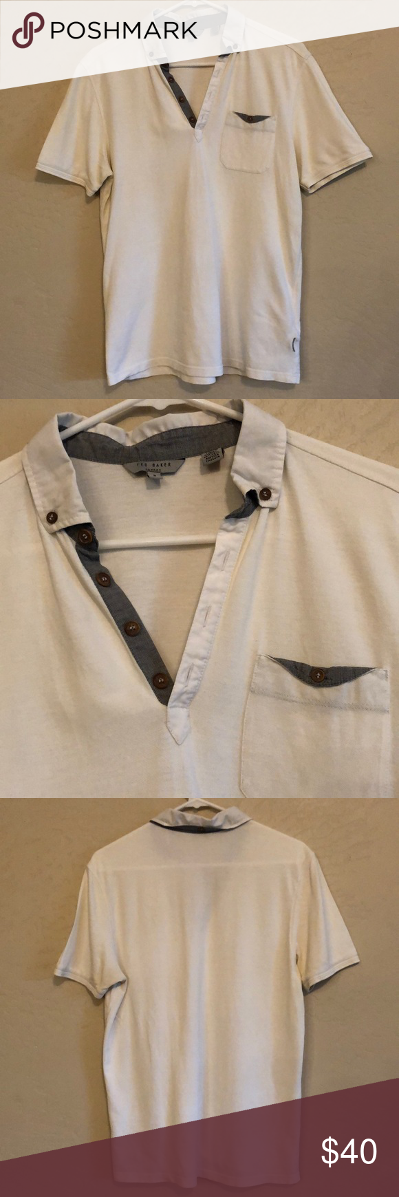 2f2ddefd1958bd Ted Baker London Polo shirt size 4 (large) This is a Ted Baker London